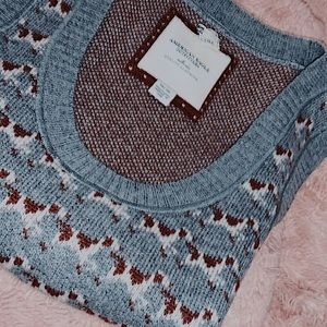 Adorable AE Dog Print Knit Sweater Vest